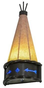 1-Light Teepee Regalia Wall Sconce Meyda Tiffany