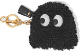 Anya Hindmarch Leather-Trimmed Shearling Key Wallet