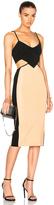 David Koma Contrast & Cut Out Dress