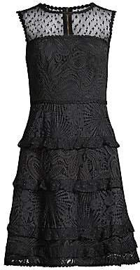 Lilly Pulitzer Women's Kasee Lace Combo Sleeveless A-Line Dress