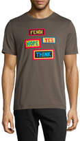 Fendi Men's Patch Detail T-Shirt