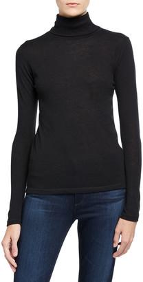 Majestic Cashmere Long-Sleeve Turtleneck Top
