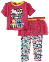 Hello Kitty Skeggings Set (Baby) - Fuchsia Purple-24 Months