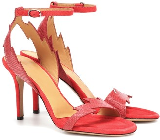 Isabel Marant Allistee embossed leather sandals