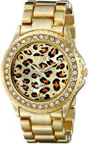 XOXO Women's XO5631 -Tone Leopard Dial Watch
