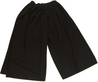 Dusan Black Wool Trousers for Women