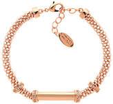 Finesse Mesh Glass Crystal Bracelet, Rose Gold