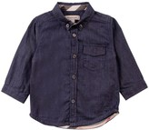 Burberry Baby Denim Shirt with Tartan Cuffs
