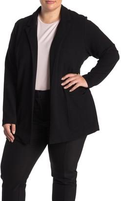 Catherine Malandrino Knit Open Front Jacket (Plus Size)