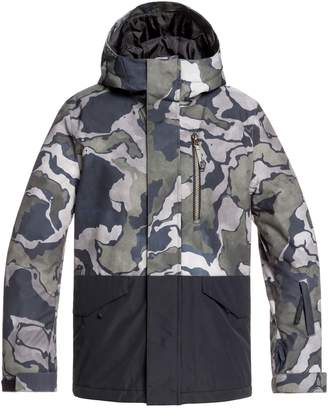Quiksilver Mission Block Hooded Snow Jacket