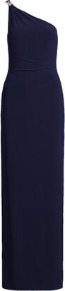 Ralph Lauren Jersey One-Shoulder Gown