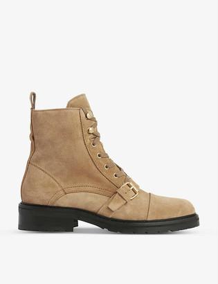 AllSaints Donita lace-up suede boots