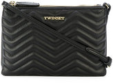 Twin-Set embossed zigzag zips clutch