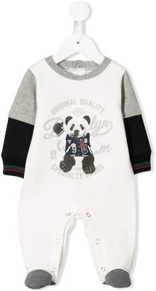 Lapin House Long-Sleeved Panda-Print Pajamas
