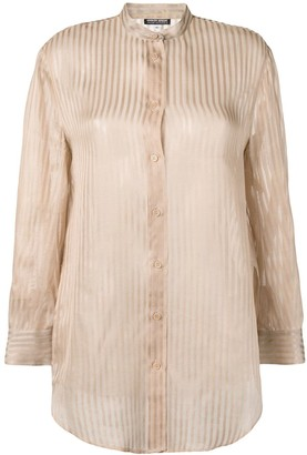 Giorgio Armani Pre-Owned 1980's Semi-Sheer Striped Shirt