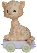 """Precious Moments 142027 Birthday Gifts, """"Wishing You Grr-Eatness"""", Birthday Train Age 7, Bisque Porcelain Figurine"""