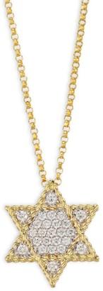 Roberto Coin Princess Diamond & 18K Yellow Gold Star Of David Necklace