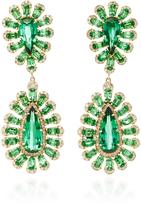 Sutra Tsavorite and Tourmaline Starburst Earrings
