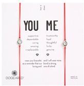 Dogeared Women's You & Me Set Of 2 Crystal Charm Friendship Bracelets