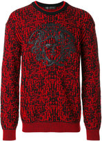 Versace embroidered Medusa jumper - men - Lamb Skin/Wool - 46