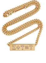 Zoe Chicco 14K Yellow Gold Pave Diamond Equation Curb Chain Necklace