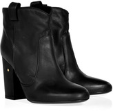 Black Matte Leather Ankle Boots