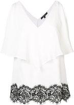 Derek Lam lace detail ruffled blouse - women - Silk - 42