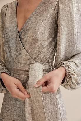 Country Road Metallic Wrap Maxi Dress