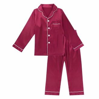 Aislor Kids Girls Short Sleeve Mermaid Print Cotton Nightdress Rainbow Colorful Princess Nightgown Casual Pajamas
