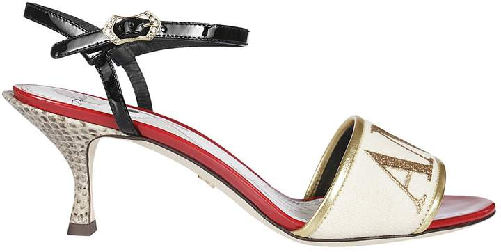 Dolce & Gabbana Amore 60 Leather Sandals