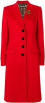 Dolce & Gabbana appliqué detail coat - women - Polyester/Spandex/Elastane/Cashmere/Virgin Wool - 42