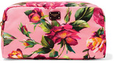 Dolce & Gabbana Printed Shell Cosmetics Case - Pink