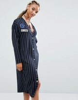 Pull&Bear Varsity Stripe Dress With Badges