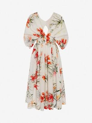 Alexander McQueen Endangered Flower Midi Dress
