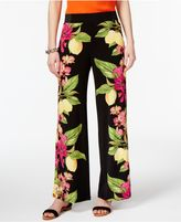 INC International Concepts Petite Printed Wide-Leg Soft Pants, Created for Macy's