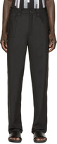 Christopher Kane Black Stretch-Wool Trousers