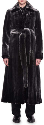 The Row Neyton Belted Mink Fur Coat