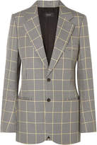 Joseph Grimaud Prince Of Wales Checked Cotton Blazer - Gray