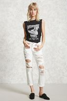 Forever 21 Distressed Mid-Rise Jeans