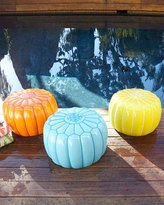 Horchow Outdoor Moroccan Pouf