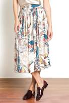 Urban Touch Printed Midi Skirt