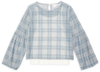 Design History Little Girl's & Girl's Cropped Burnout Top