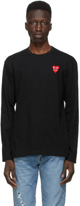 Comme des Garcons Black Layered Double Heart Long Sleeve