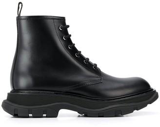 Alexander McQueen Chunky Sole Combat Boots