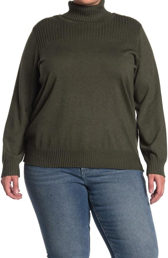 Cyrus Button Shoulder Detail Sweater