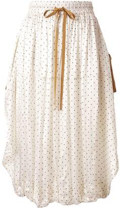 Lee Mathews Drawstring Dotted Skirt