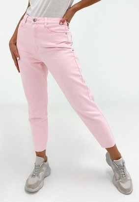 Missguided Petite Pink High Waisted Mom Jeans