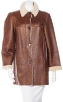 Michael Kors Leather Knee-Length Coat