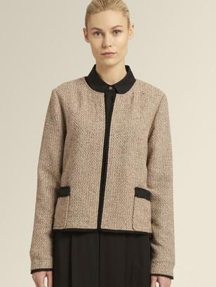 DKNY Tweed Open-front Jacket