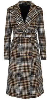 Tagliatore Belted Check Coat